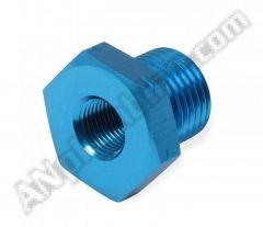 Metric Thread Male To NPT Thread Female Adapter - Blue - Aluminum